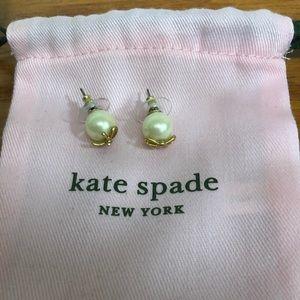 kate spade Jewelry - Kate Spade Pearl Bow Stud Earrings
